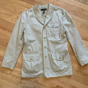 Banana Republic Khaki Button Down Jacket